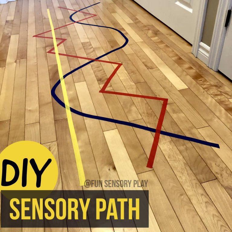 sensory path painter's tape
