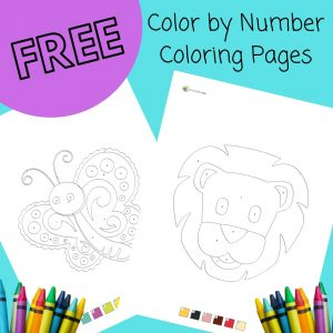 free color by number coloring pages printable