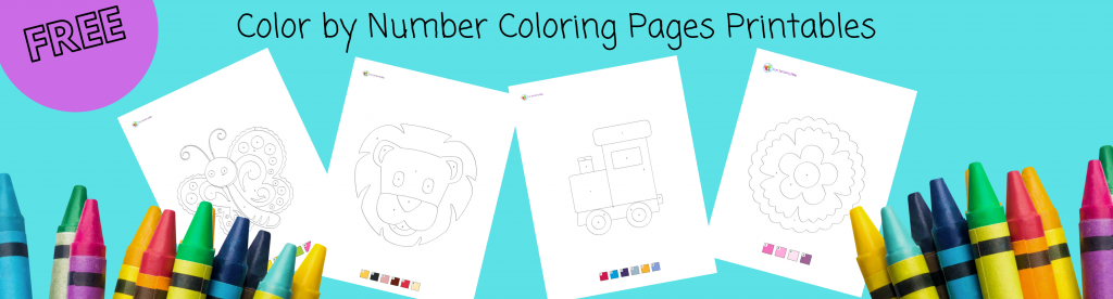 free color by number coloring pages