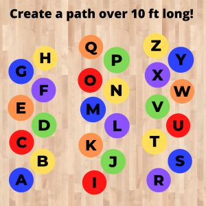 alphabet sensory path floor stickers decals canada classroom hallway school