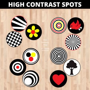 high contrast baby images floor decals