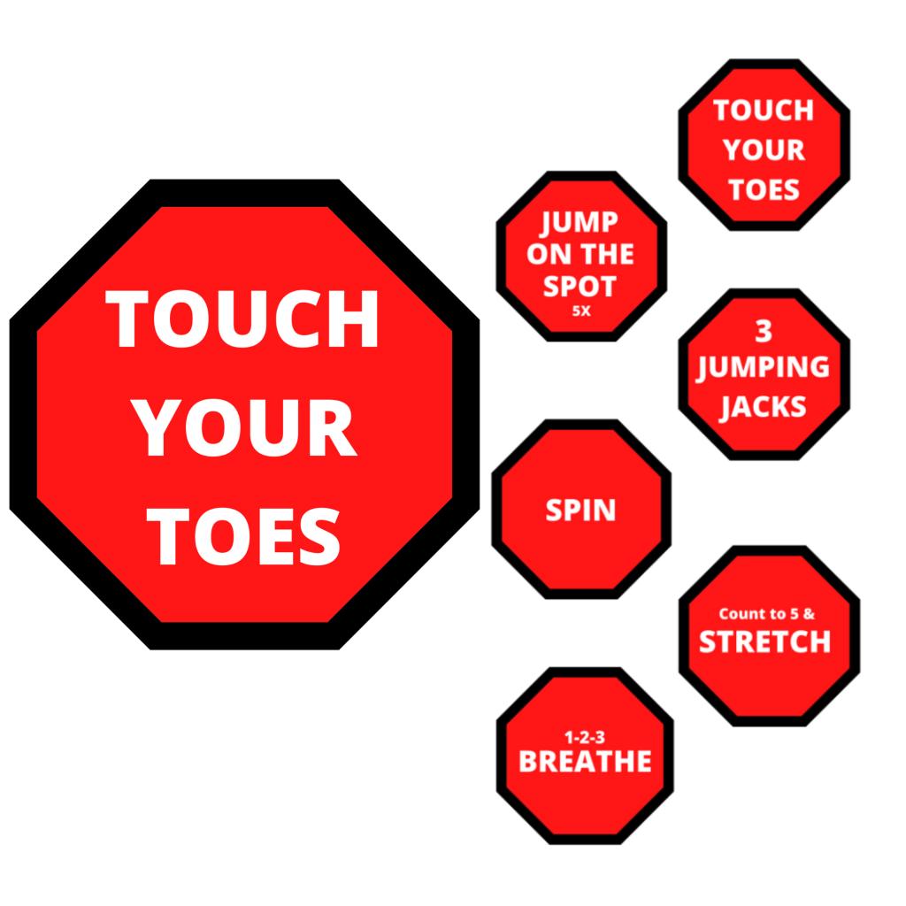 sensory path floor stickers decals activity spots school