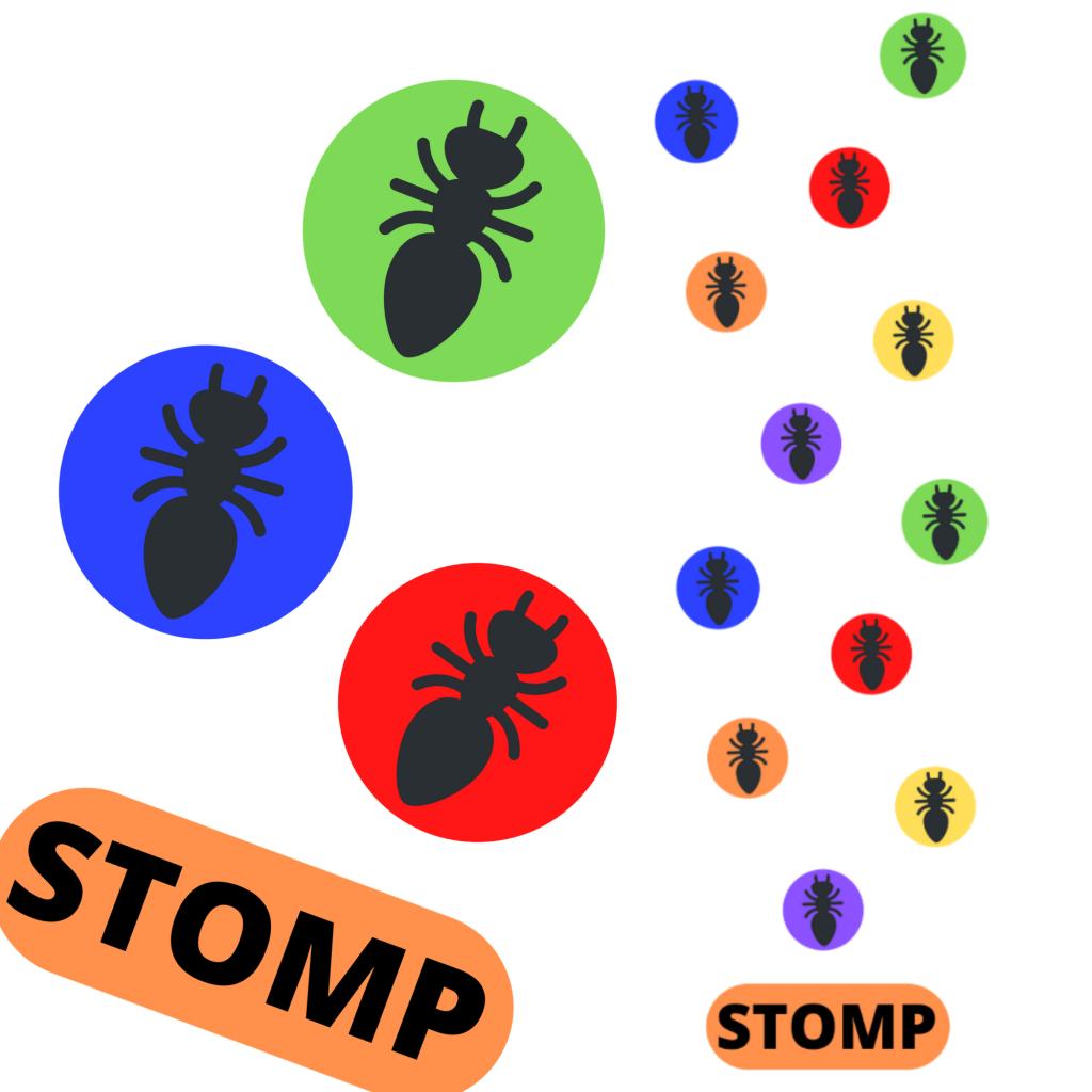 sensory path decal stickers school stomp bugs