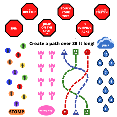 sensory path decal stickers for school